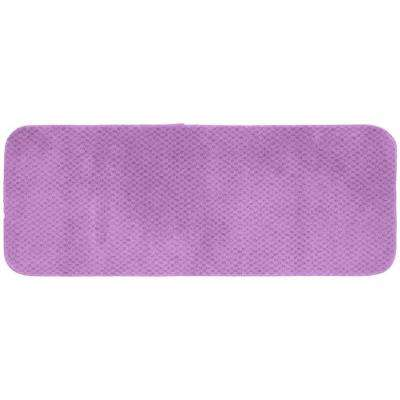 Cabernet Purple 22 in. x 60 in. Washable Bathroom Accent Rug