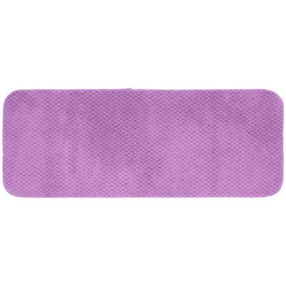 Garland Rug Cabernet Purple 22 inch x 60 inch Washable Bathroom Accent Rug by Garland Rug