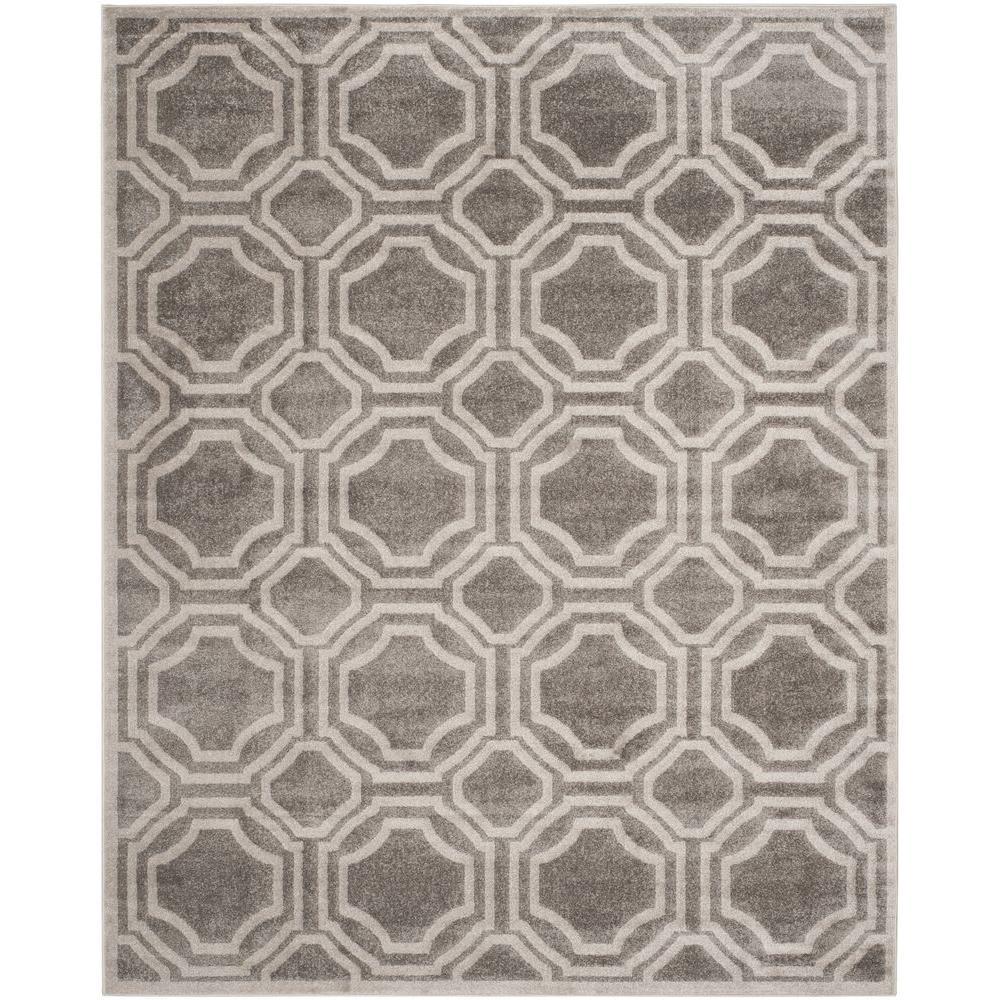 Amherst Gray/Light Gray 10 ft. x 14 ft. Indoor/Outdoor Area Rug