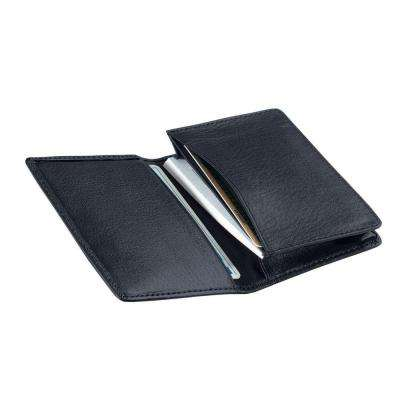 Blue Executive Business Card Case Wallet in Genuine Leather