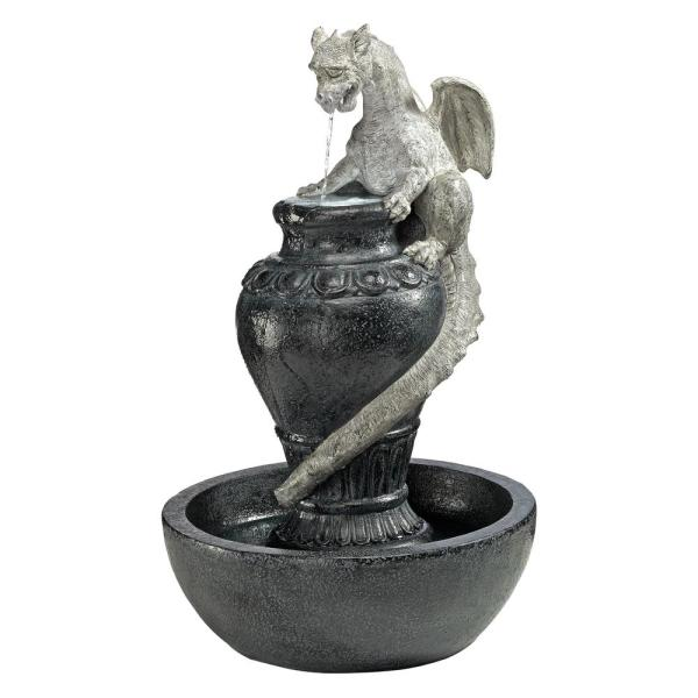 The Viper Dragon Stone Bonded Resin Sculptural Fountain