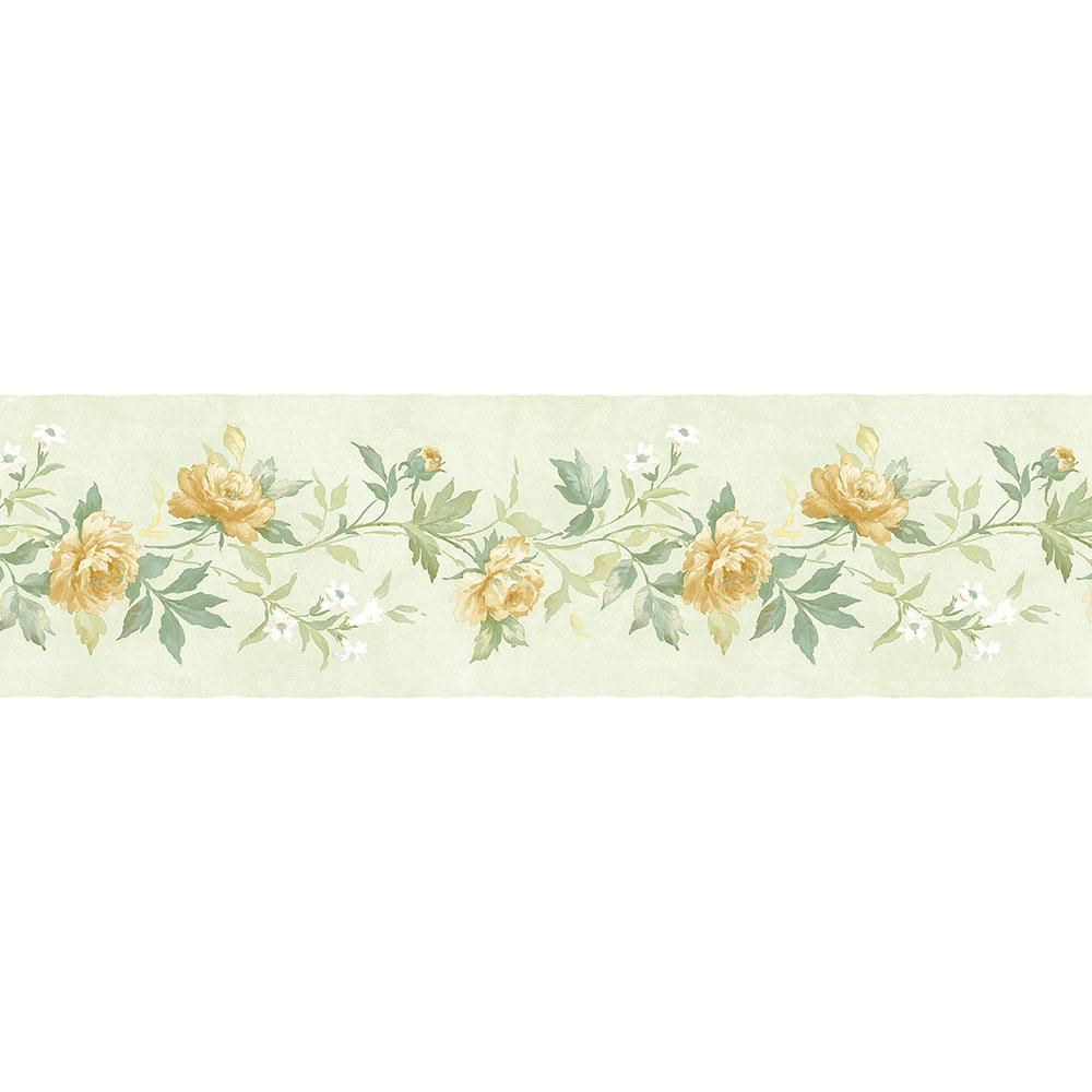 Norwall Casual Rose Wallpaper Border Pp79473 The Home Depot