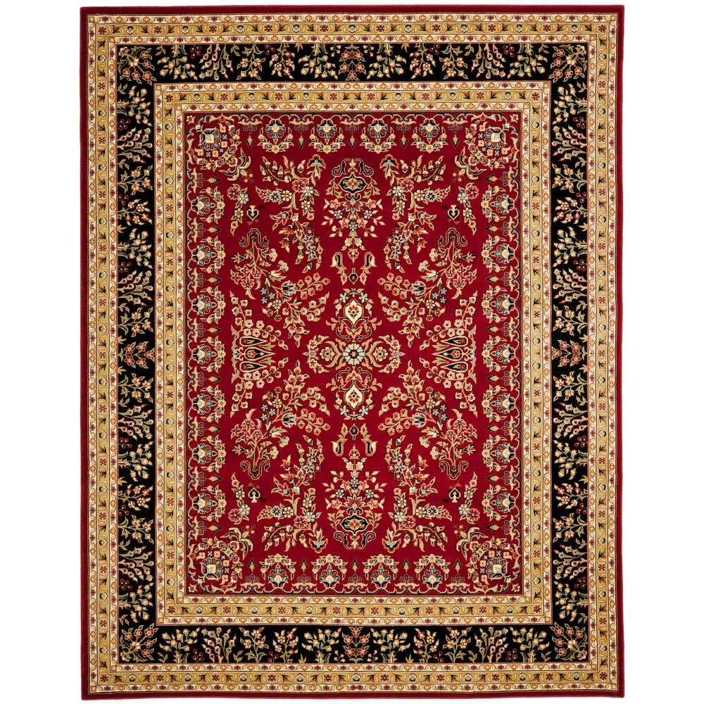 Safavieh Lyndhurst Red Black 4 Ft X 6 Ft Area Rug Lnh331b 4 The