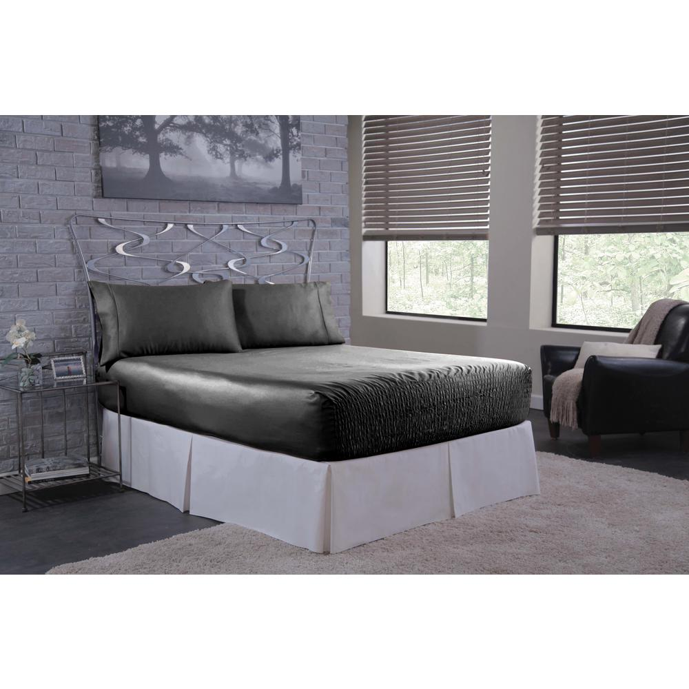Bed Tite Satin 4-Piece Black Solid 300 Thread Count Full Sheet Set was $54.99 now $43.99 (20.0% off)
