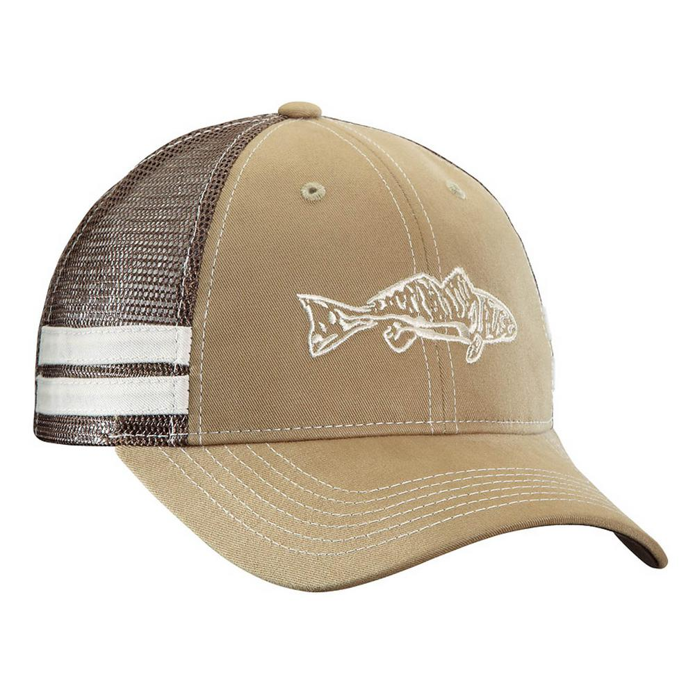 842a03191 Flying Fisherman Khaki and Chocolate Redfish Trucker Hat-H1731 - The ...