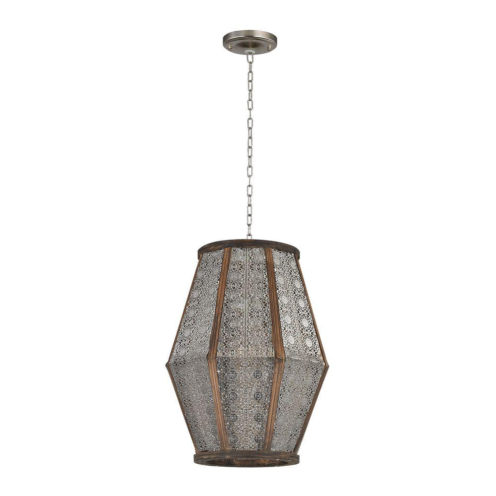 Titan Lighting Pierced Metalwork Small 1-Light Nickel and...