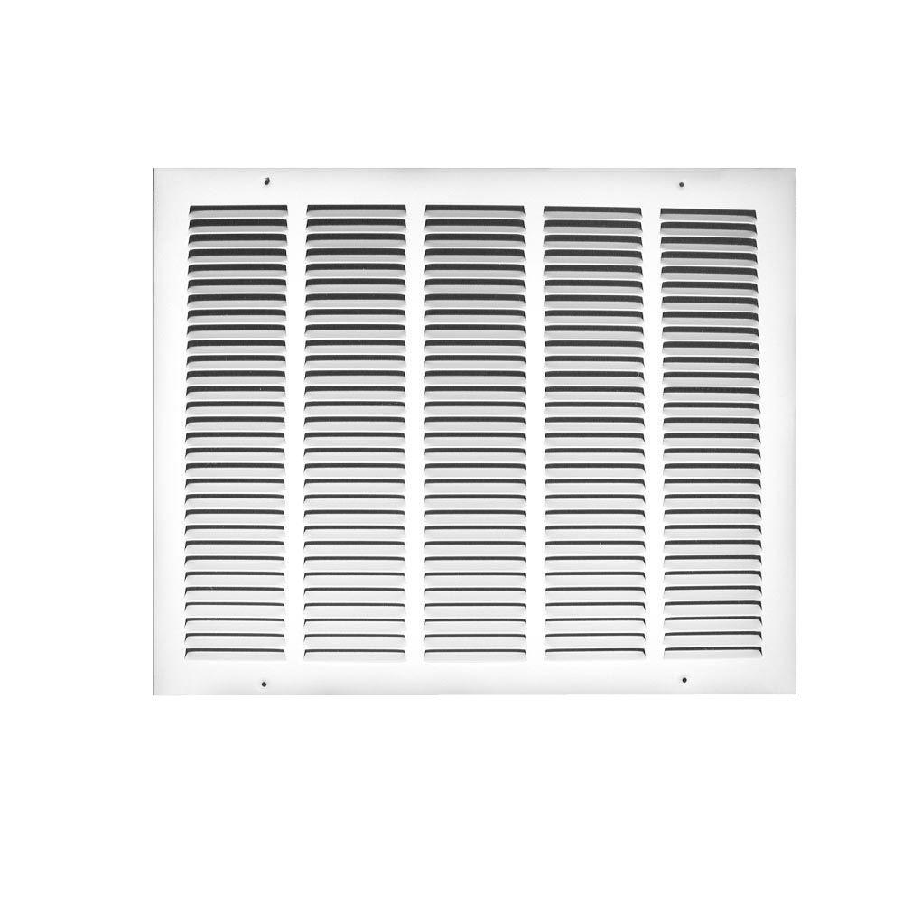24 in. x 12 in. Steel Return Air Grille in White