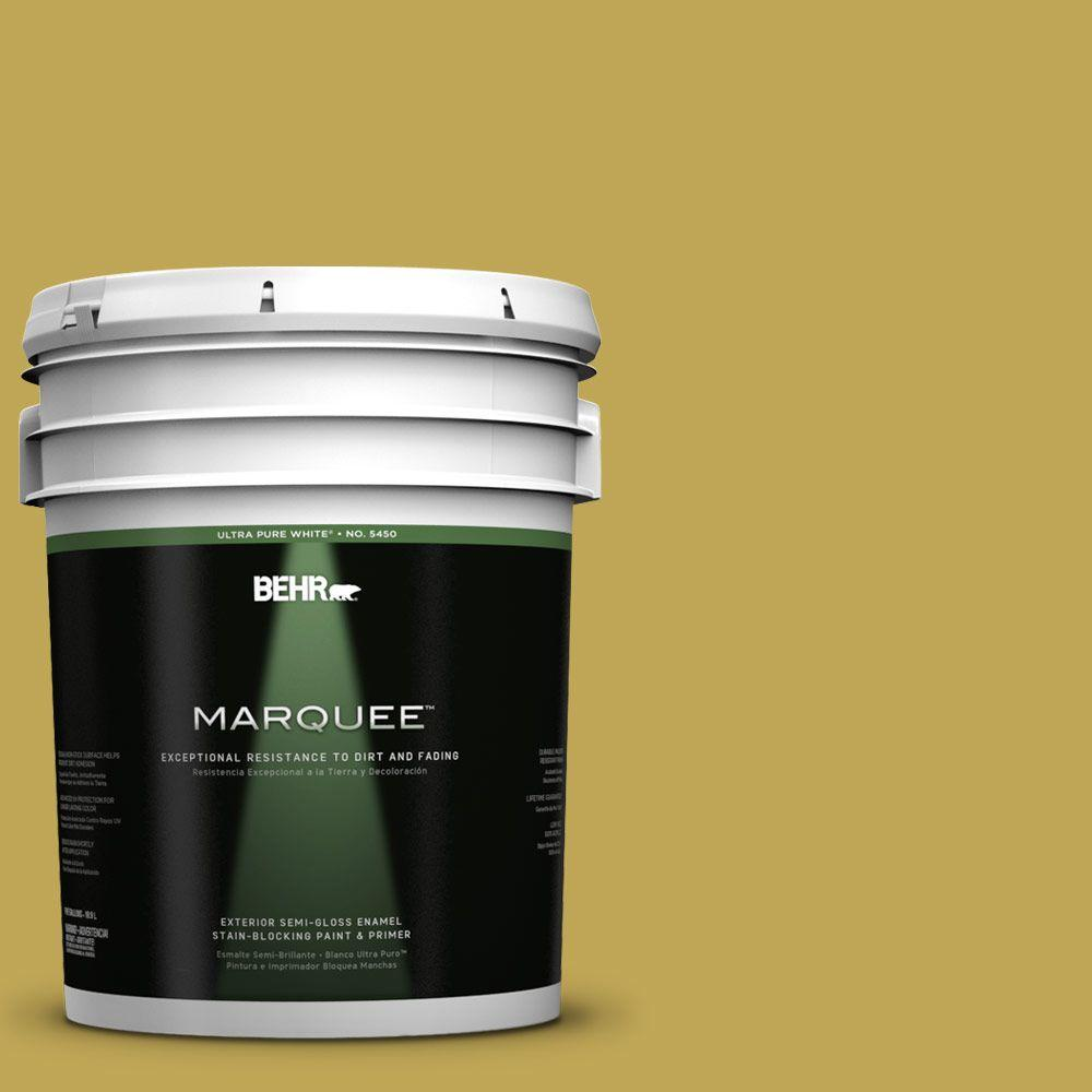 BEHR MARQUEE 5-gal. #PPU6-18 Lemongrass Semi-Gloss Enamel Exterior Paint