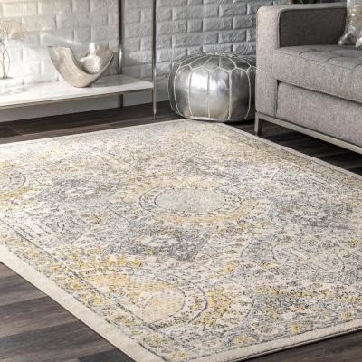 Minta Modern Persian Gold 8 ft. x 10 ft. Area Rug