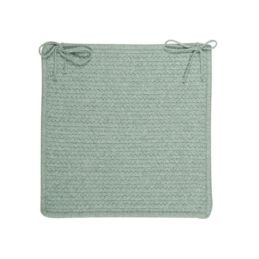 Colonial Mills Allure Misted Green Braided Chair Pad Set of 4