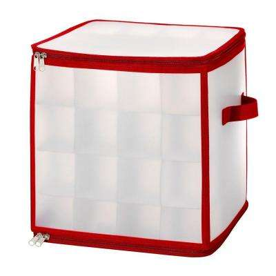 Christmas Storage Collection 11.8 in. x 11.8 in. Zip Cube Small Christmas Ornament Organizer