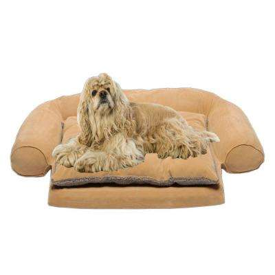 Small Ortho Sleeper Comfort Couch Pet Bed with Removable Cushion - Carmel