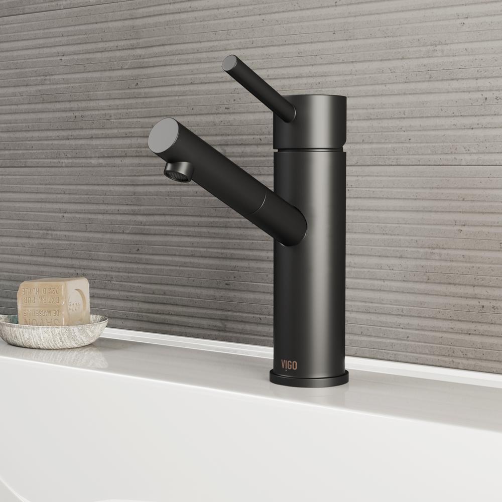 Noma Single Hole Single-Handle Bathroom Faucet in Matte Black