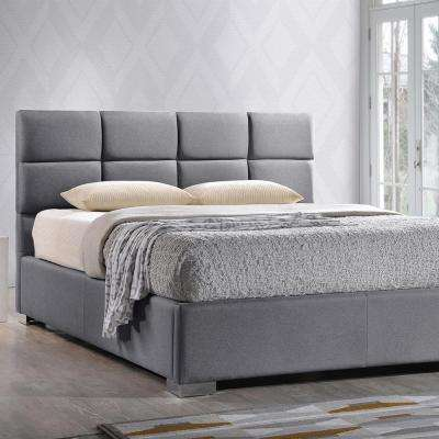 Sophie Gray Queen Upholstered Bed