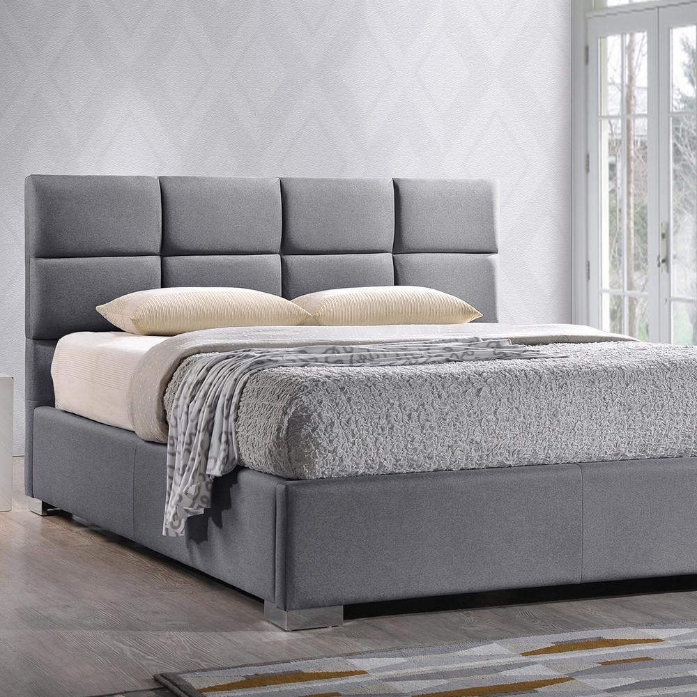 Baxton Studio Sophie Gray King Upholstered Bed 28862 6685