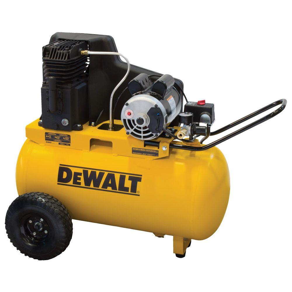 Mobile Air Compressor >> Dewalt 20 Gal Portable Horizontal Electric Air Compressor