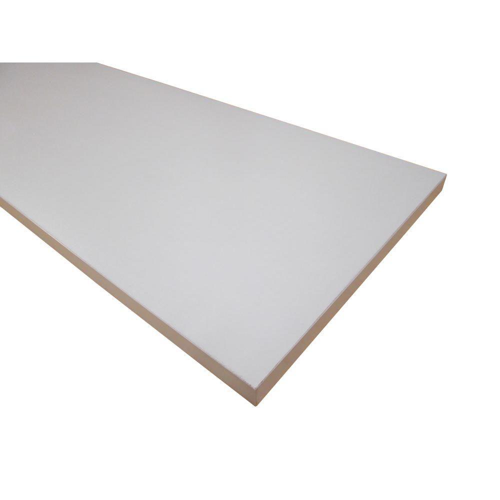 null 3/4 in. x 12 in. x 97 in. White Thermally-Fused Melamine Shelf