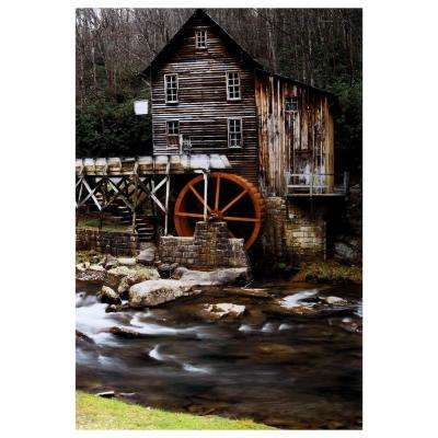 "47 in. x 32 in. ""River Mill"" Tempered Glass Wall Art"