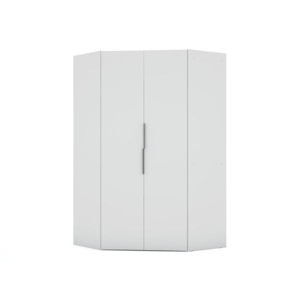 Luxor Ramsey 2.0 White Corner Wardrobe Closet 115HD1