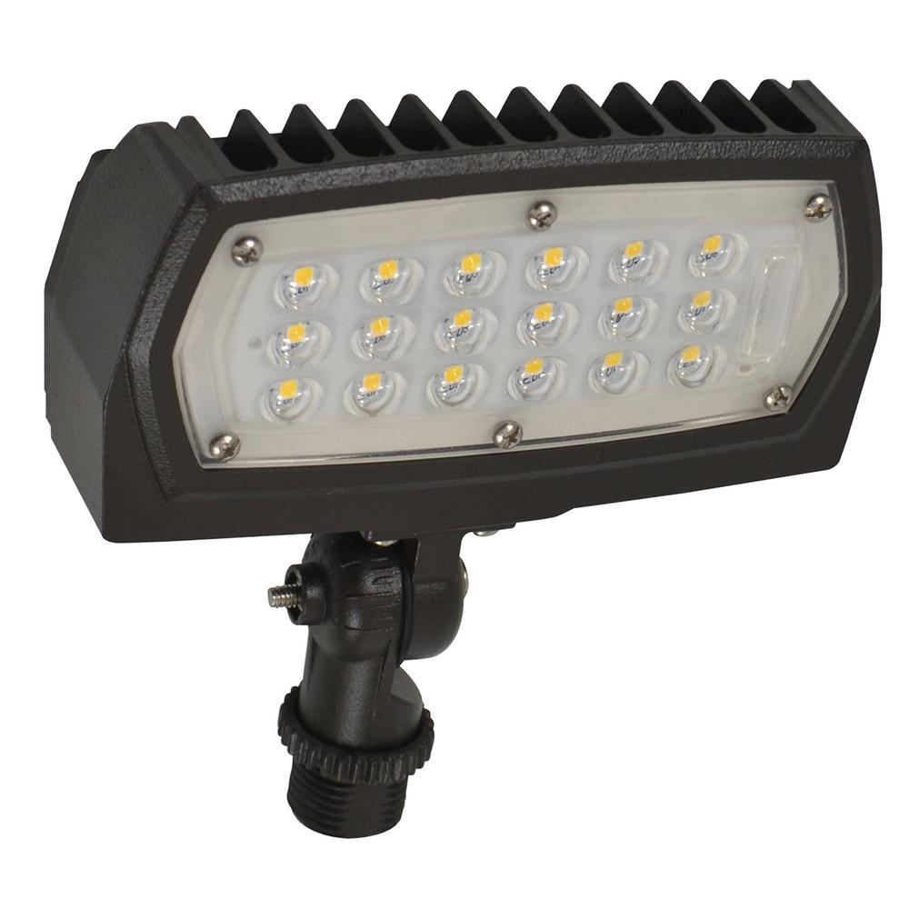 12-Watt Bronze Outdoor Integrated LED Flood Light