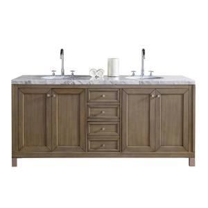 James Martin Signature Vanities Chicago 72 inch W Double Vanity in Whitewashed Walnut with Marble Vanity Top in Carrara... by James Martin Signature Vanities