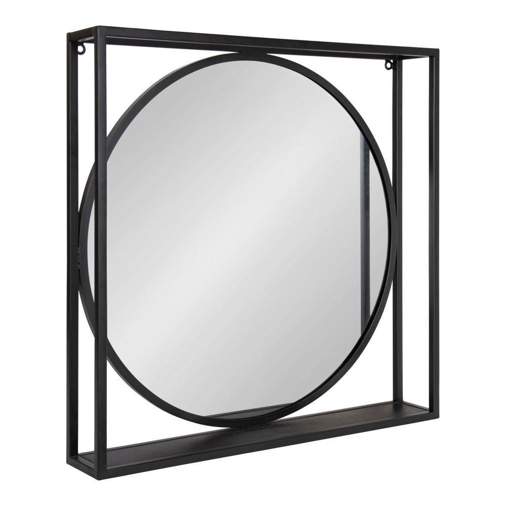Medium Square Black Modern Mirror (23.75 in. H x 23.75 in. W)