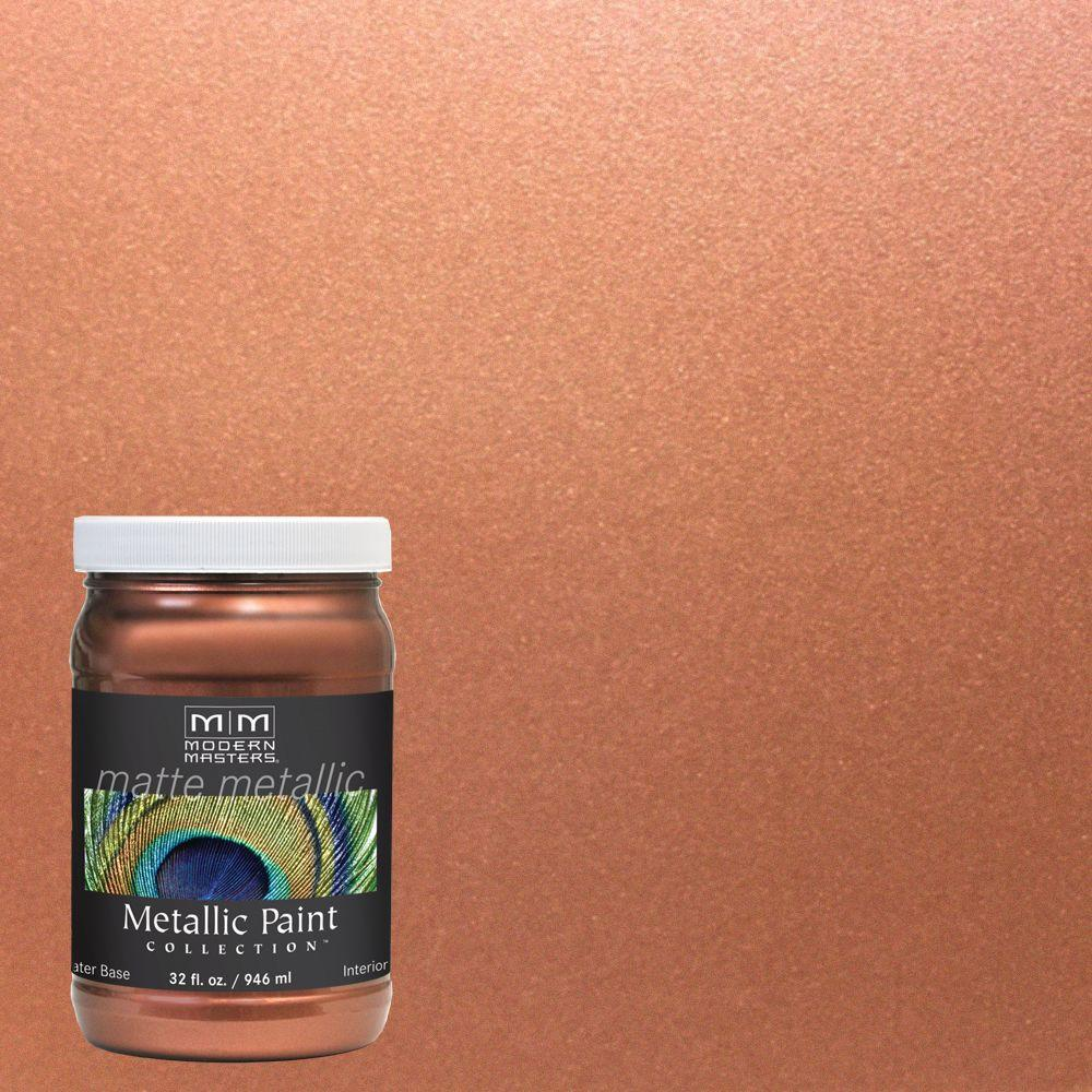 Modern Masters 1 Qt. Copper Matte Metallic Interior Paint