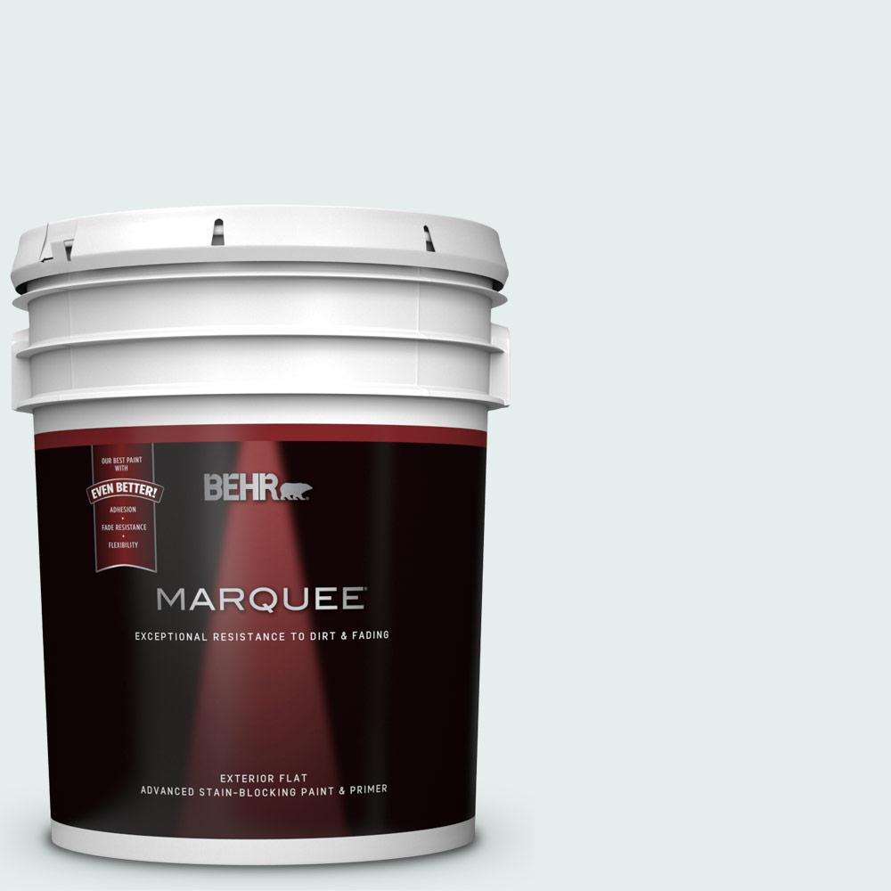 Behr Marquee 5 Gal 530e 1 White Sapphire Flat Exterior Paint And Primer In One 445005 The Home Depot