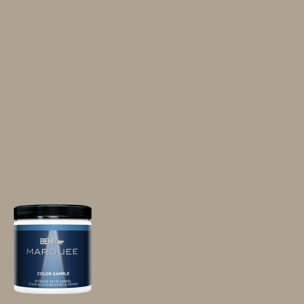 Behr Marquee 8 Oz 730d 4 Garden Wall One Coat Hide Satin Enamel Interior Exterior Paint And Primer In Sample