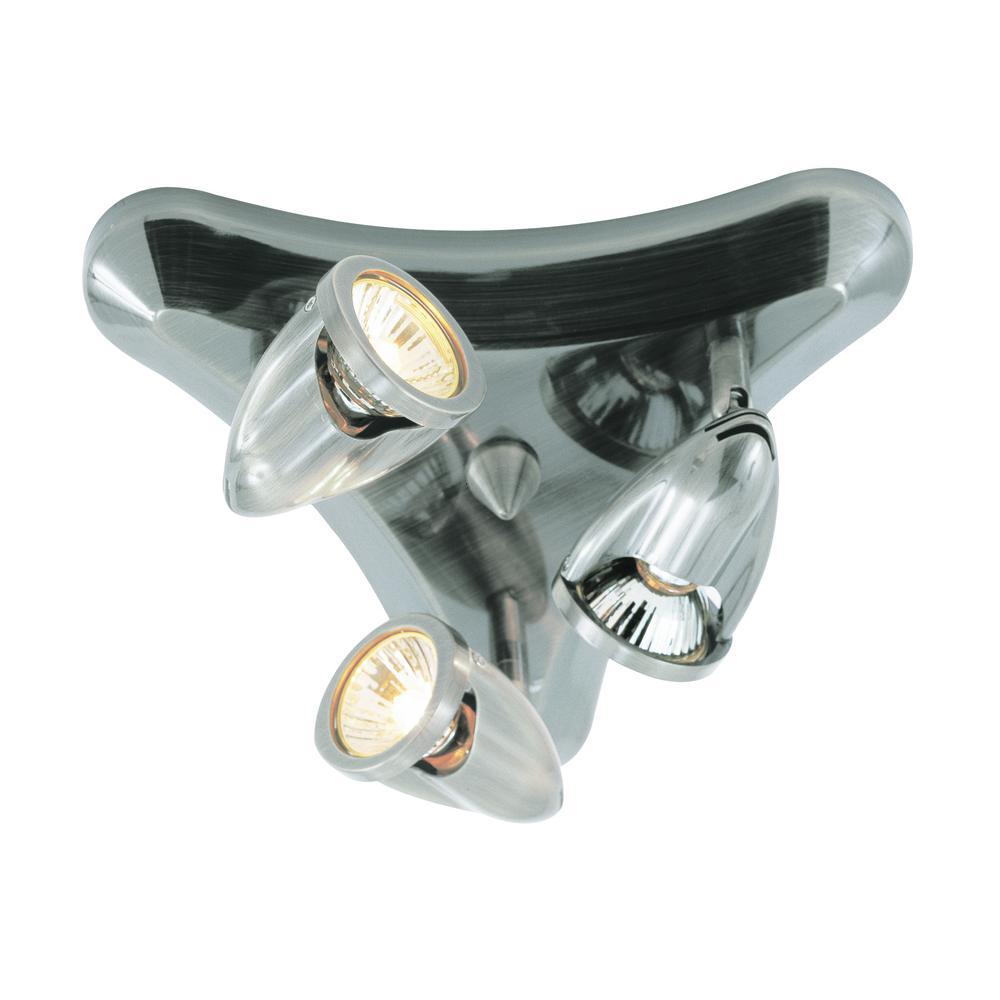 Stingray 12.5 in. 3-Light Brushed Nickel Track Lighting Kit
