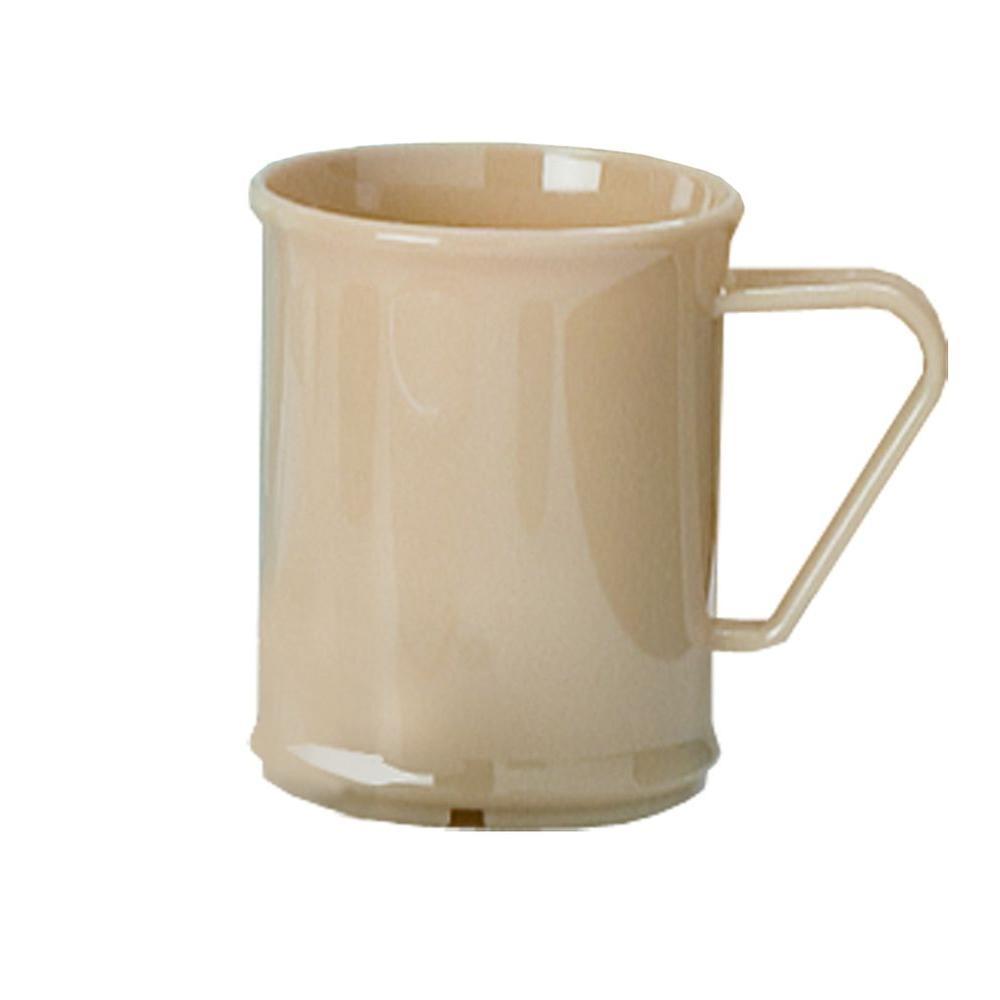 15 oz., 5.25 in. Diameter Polycarbonate Nappie Bowl in Tan (Case of 48)