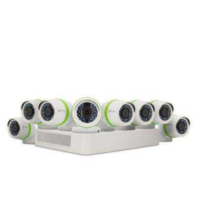 720p Security System 8 HD 720p Cameras and 16-Channel DVR 2TB HDD 100 ft. Night Vision Works with Alexa using IFTTT