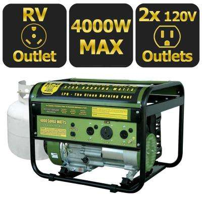 4,000-Watt Clean Burning LPG Propane Gas Powered Portable Generator, 50 State Compliant
