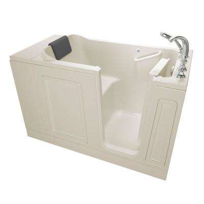 Acrylic Luxury Series 4.2 ft. Walk-In Soaking Tub in Linen