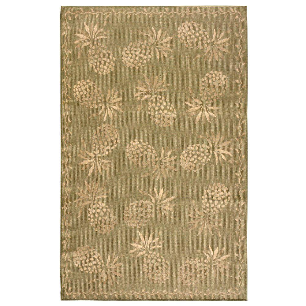 Home Decorators Collection Luau Moss 4 ft. 11 in. x 7 ft. 6 in. Area Rug