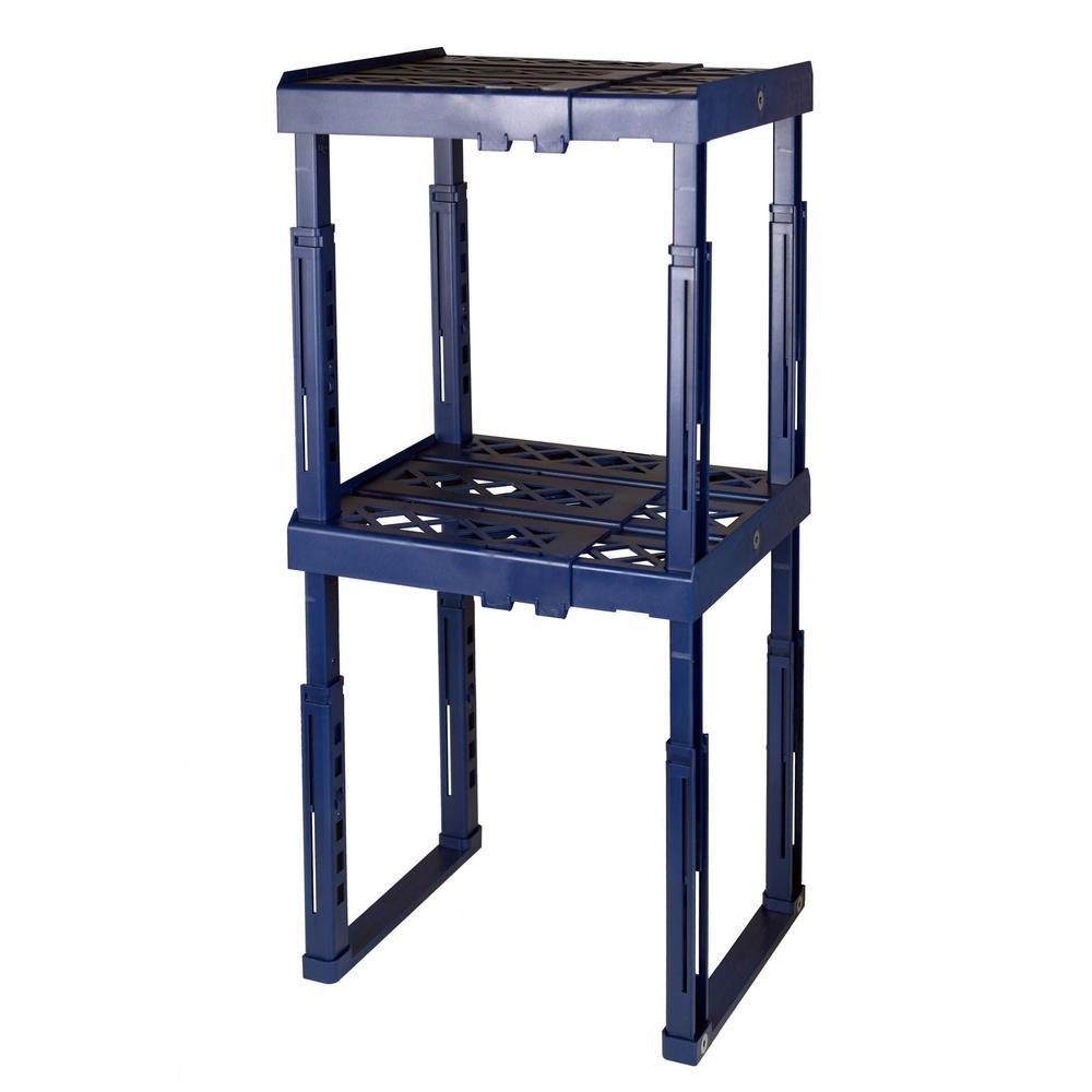 12 in. W x 14 in. H x 10 in. D Blue Adjustable Locker Shelf (2-Pack)