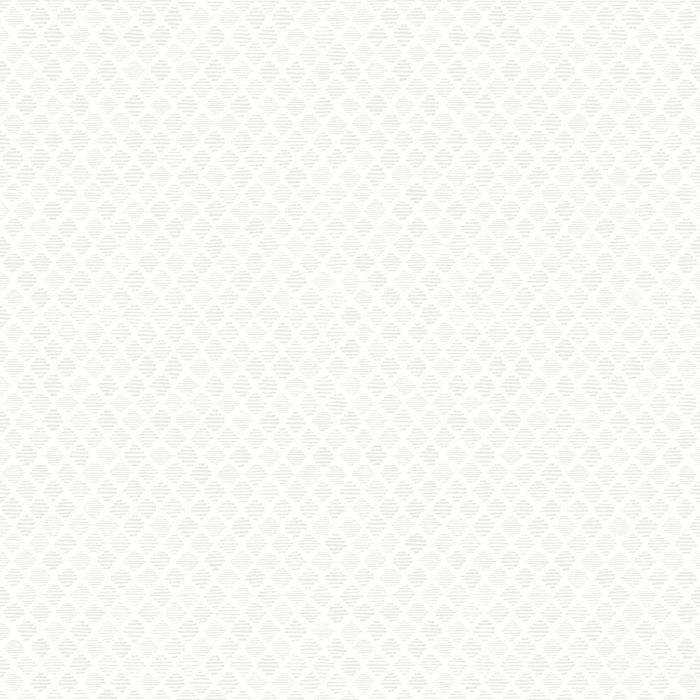 Square Off-White Geometric Off-White Wallpaper Sample