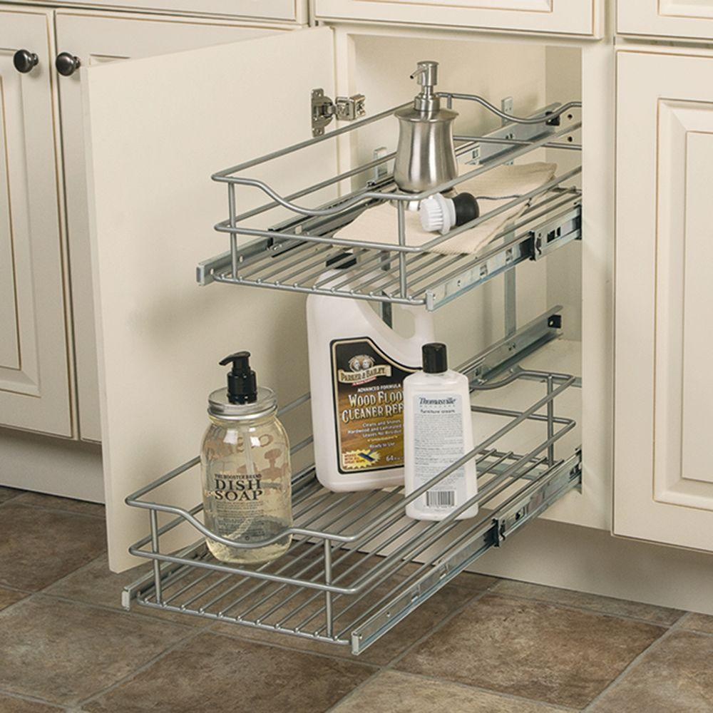 Pull Out Cabinet Drawers Pull Out Cabinet Organizers The Home Depot