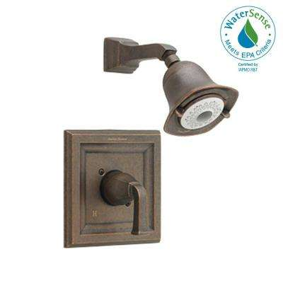 Town Square 1-Handle Shower Faucet Trim Kit with FloWise 3-Function Showerhead in Oil Rubbed Bronze (Valve Not Included)