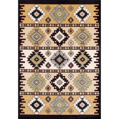 Ferrera Collection Mayan Multicolored 5 ft. x 8 ft. Area Rug
