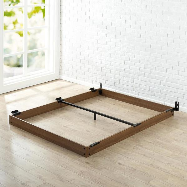 Zinus 5 In Full Wooden Bed Frame Hd Wdbf 5f The Home Depot