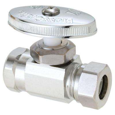 1/2 in. FIP Inlet x 7/16 in. and 1/2 in. O.D. Slip Joint Outlet Brass Multi-Turn Straight Valve (5-Pack)