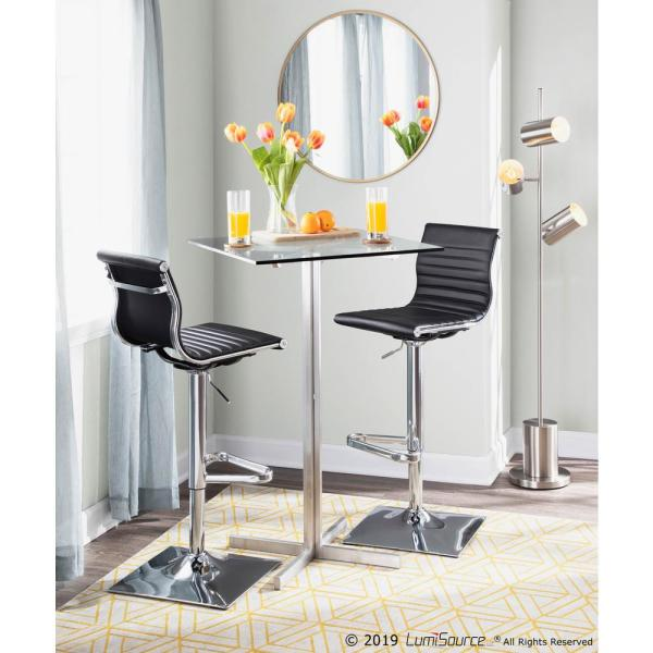 Square Bar Table With Clear Gl