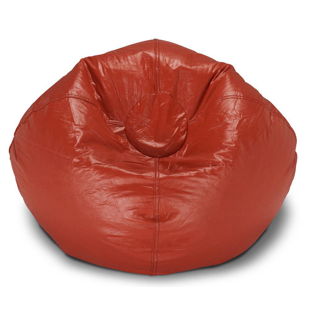 Red Vinyl Bean Bag