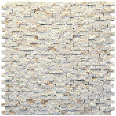 Modern Still Life 12 in. x 12 in. x 9.5 mm Marble Natural Stone Mesh-Mounted Mosaic Wall Tile (10 sq. ft. / case)