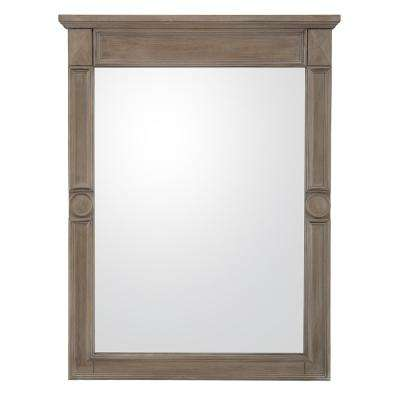 Astoria Park 24 in. x 32 in. Framed Wall Mirror in Antique Ash
