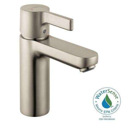 Metris S Single Hole 1-Handle Mid-Arc Bathroom Faucet in Brushed Nickel