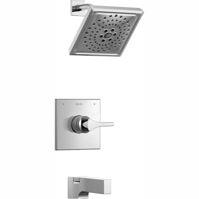 Zura 1-Handle Tub and Shower Faucet Trim Kit with H2Okinetic Spray in Chrome (Valve Not Included)