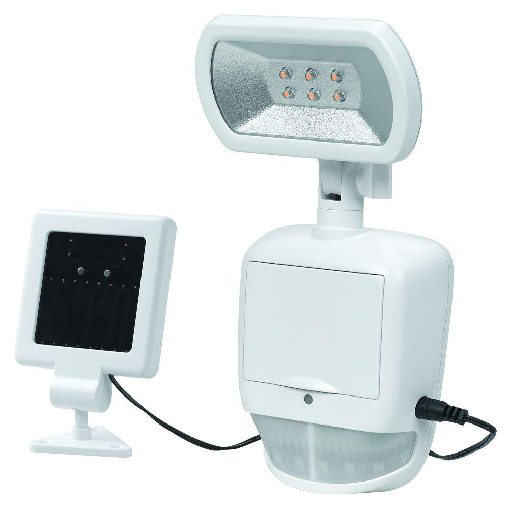 Maximus 180 Degree White Solar Motion Outdoor LED Security Light