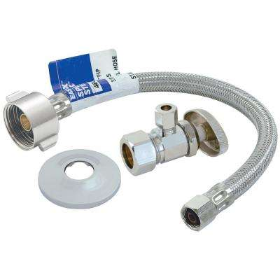 1-3/8 in. x 7/8 in. x 12 in. Toilet Installation Kit with Angle Stop Valve